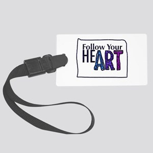 Follow Your Art Large Luggage Tag