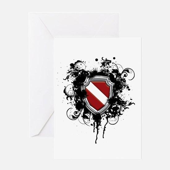 SCUBA Shield (Grunge) Greeting Card