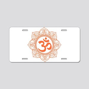 OM Flower Aluminum License Plate