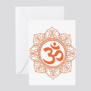 OM Flower Greeting Cards
