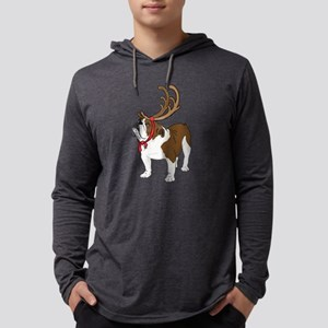 Bulldog in Antlers Long Sleeve T-Shirt