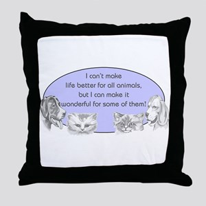 Better Pet Life Throw Pillow