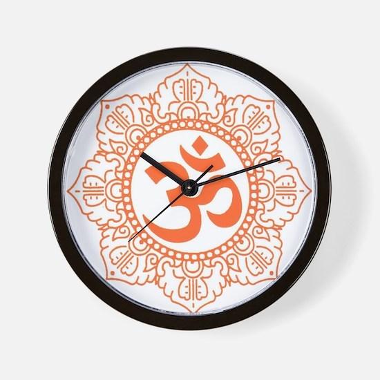 OM Flower Wall Clock