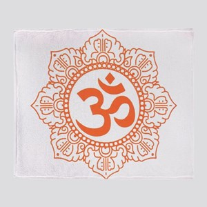 OM Flower Throw Blanket