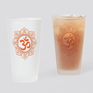 OM Flower Drinking Glass