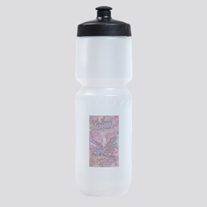Pink Cancer Angel Sports Bottle