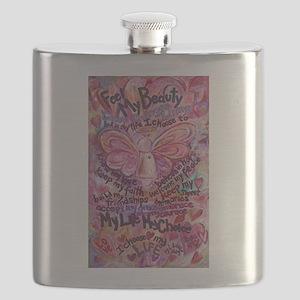 Pink Cancer Angel Flask