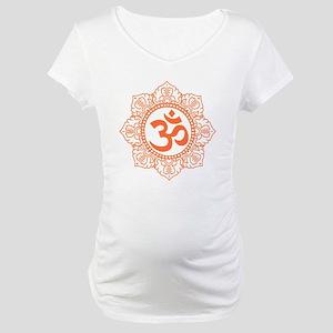 OM Flower Maternity T-Shirt