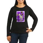 Sunflower Unicorn Women's Long Sleeve Dark T-Shirt