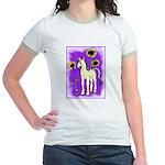 Sunflower Unicorn Jr. Ringer T-Shirt