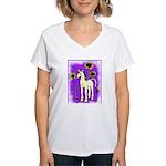 Sunflower Unicorn Women's V-Neck T-Shirt