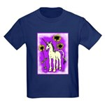Sunflower Unicorn Kids Dark T-Shirt