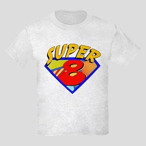 Superhero 8 Birthday Kids Light T-Shirt