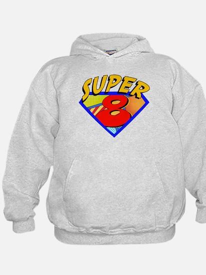 Superhero 8 Birthday Hoodie