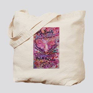 Pink Cancer Angel Tote Bag