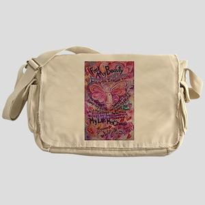Pink Cancer Angel Messenger Bag