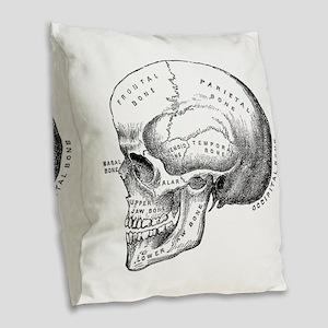 Anatomical Burlap Throw Pillow