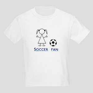 Soccer fan girl Kids Light T-Shirt