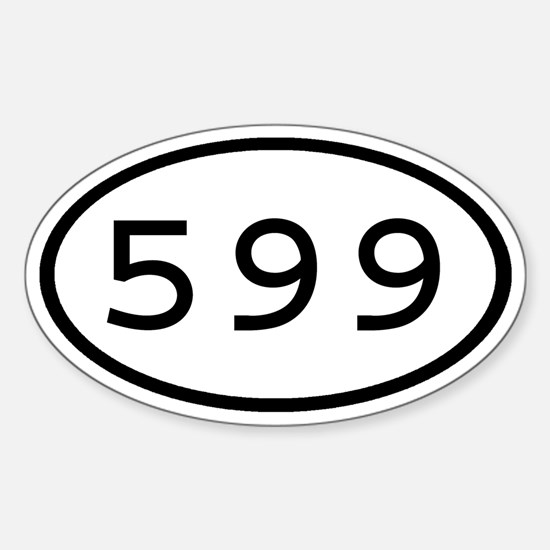 599 Oval Oval Decal