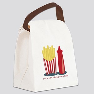 Ketchup To My Fries Canvas Lunch Bag