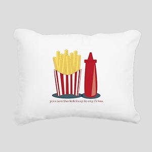 Ketchup To My Fries Rectangular Canvas Pillow