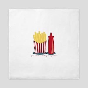 Ketchup To My Fries Queen Duvet