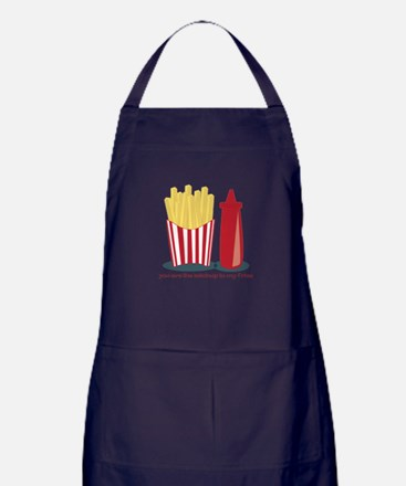 Ketchup To My Fries Apron (dark)