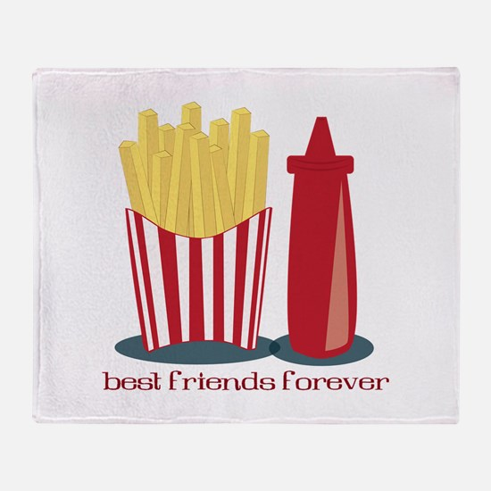 Best Friends Forever Throw Blanket