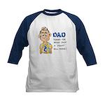 Father's Day Kids Baseball Jersey
