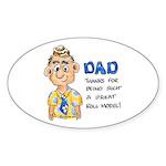 Father's Day Oval Sticker