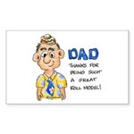 Father's Day Rectangle Sticker