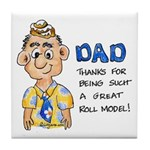 Father's Day Tile Coaster