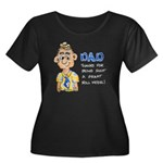 Father's Day Women's Plus Size Scoop Neck Dark T-