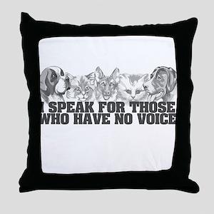 Animal Voice Throw Pillow
