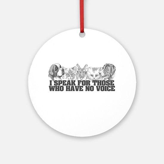 Animal Voice Ornament (Round)