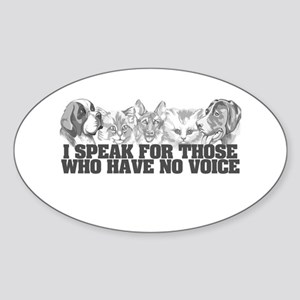 Animal Voice Oval Sticker