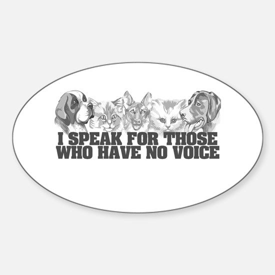 Animal Voice Oval Decal