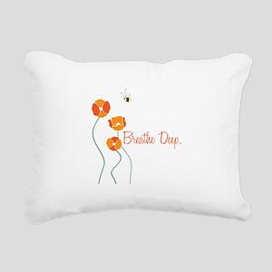 Breathe Deep Rectangular Canvas Pillow