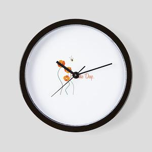 Breathe Deep Wall Clock