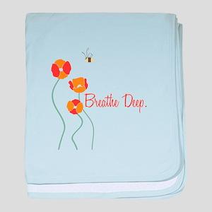 Breathe Deep baby blanket