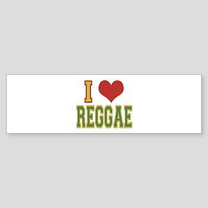 I Love Reggae Bumper Sticker