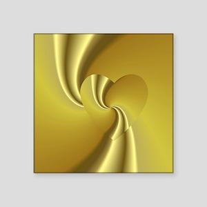 "Gold Swirl Square Sticker 3"" x 3"""