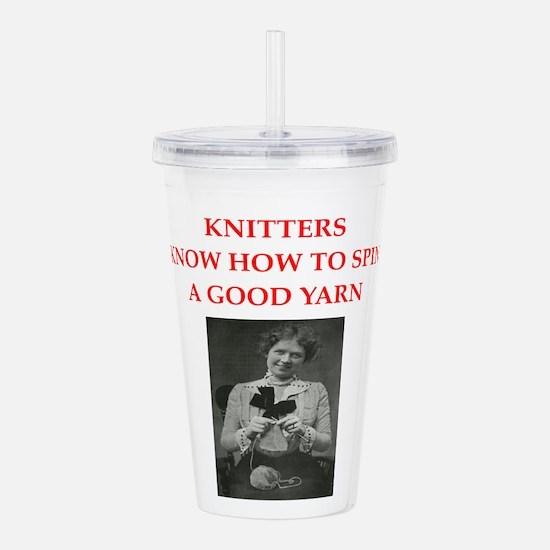 knitters Acrylic Double-wall Tumbler