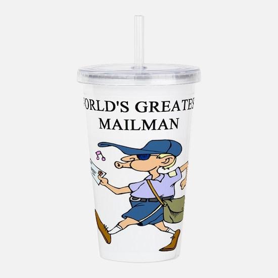 worlds greatest mailman Acrylic Double-wall Tumble