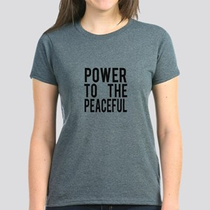 Power to the Peaceful Women's Dark T-Shirt