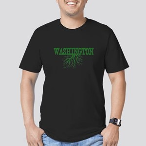 Washington Roots Men's Fitted T-Shirt (dark)
