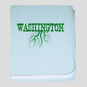 Washington Roots baby blanket