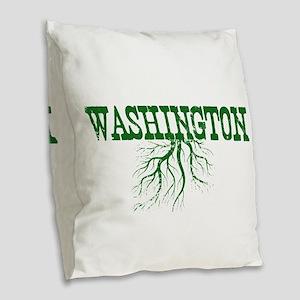 Washington Roots Burlap Throw Pillow