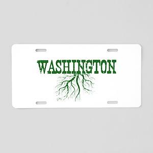 Washington Roots Aluminum License Plate