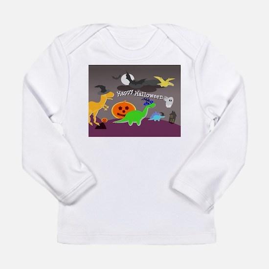 Happy Halloween Dinosaurs Kids Long Sleeve T-Shirt
